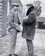 Brook Holliday (left) at the 1966 December Sales with Tim Vigors. Click for a larger image.