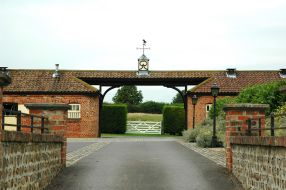 Entrace to the main yard at Copgrove Stud, click for a larger image