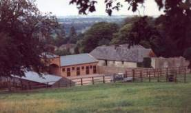 Yearling Yard from road to Low Moor gallops, click for larger picture