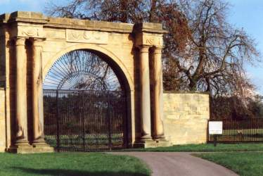 Napoleonic Wars Triumphal Arch at entrance to Thornton. Click for larger image